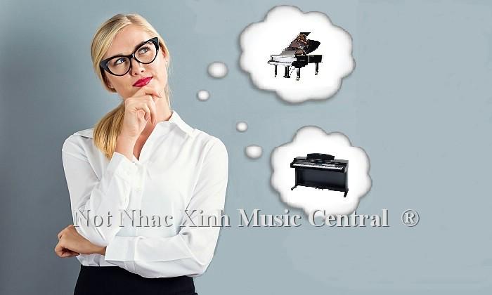 Chọn mua đàn piano cơ hay điện